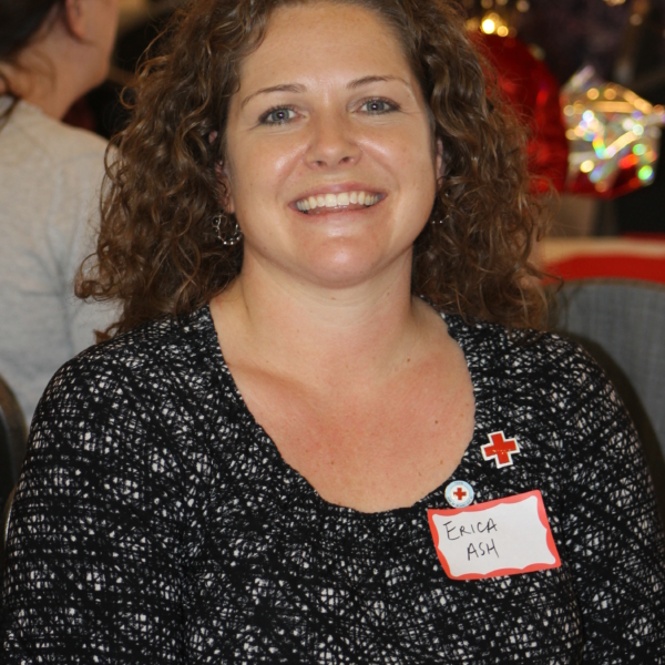Erica at Red Cross Volunteer Event